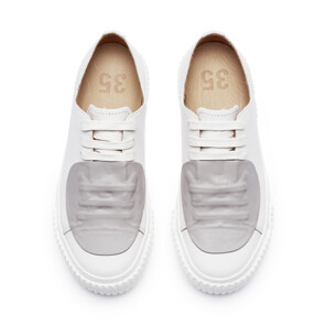 GUM Rubber patch Low-top SNEAKERS (LIGHT GREY)