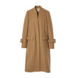 SINGLE BREASTED WOOL BLEND COAT (CAMEL)