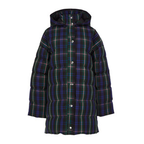 CELEB'S PICK★ PUNK CHECK LIGHT NYLON DOWN JACKET (GREEN)