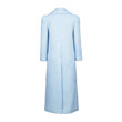 QUILTED PUFF SHOULDER TRENCH COAT (LIGHT BLUE)